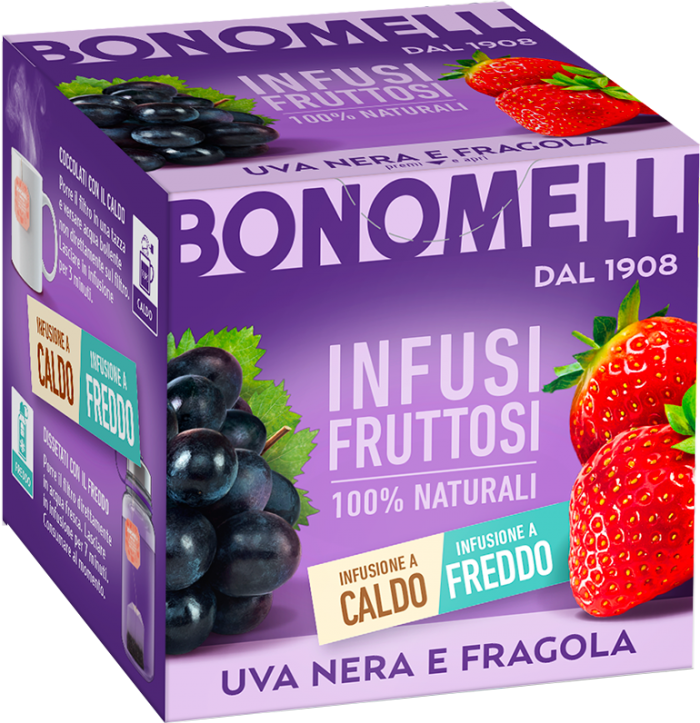 Black grapes and strawberry - Bonomelli