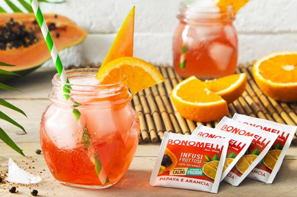Cocktail analcolico con Infuso di papaya e arancia - Bonomelli