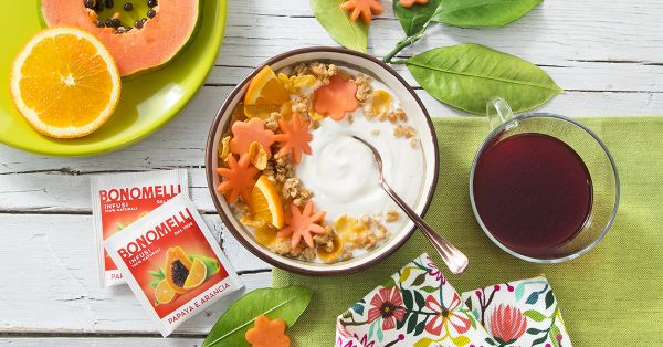 Smoothie con infuso di papaya e arancia e yogurt - Bonomelli
