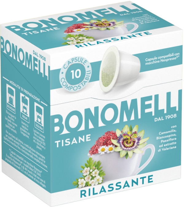 Relaxing Wellness Tea Capsules - Bonomelli