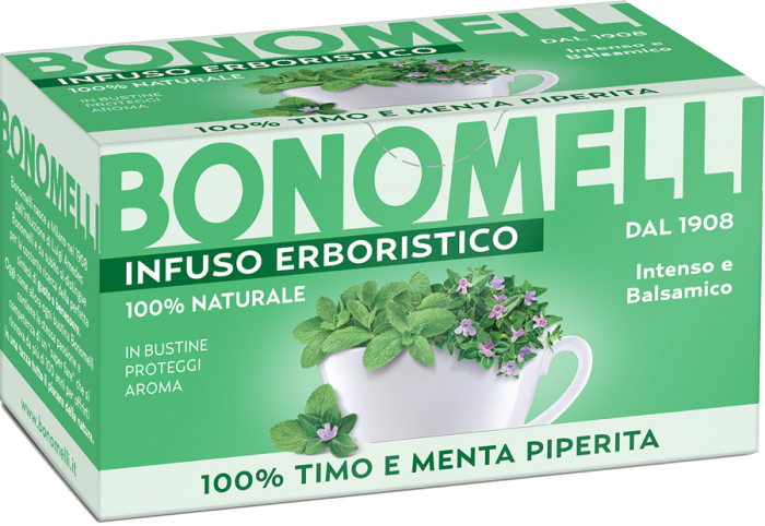 Thyme and Peppermint Herbal Tea - Bonomelli