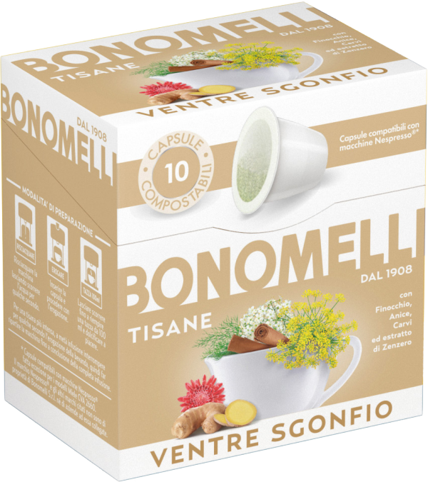 Abdominal Relief Wellness Tea Capsules - Bonomelli
