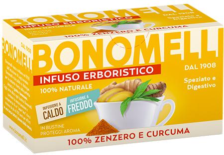Ginger and Turmeric Herbal Tea - Bonomelli