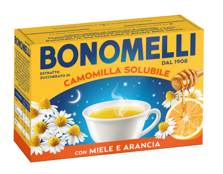 Soluble honey and orange chamomile tea - Bonomelli