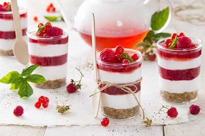 Cheesecake all'infuso lampone e ribes rosso - Bonomelli